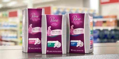 New Poise Active Coupon = Liners or Pads Only 99¢ After CVS Rewards (Regularly $6)