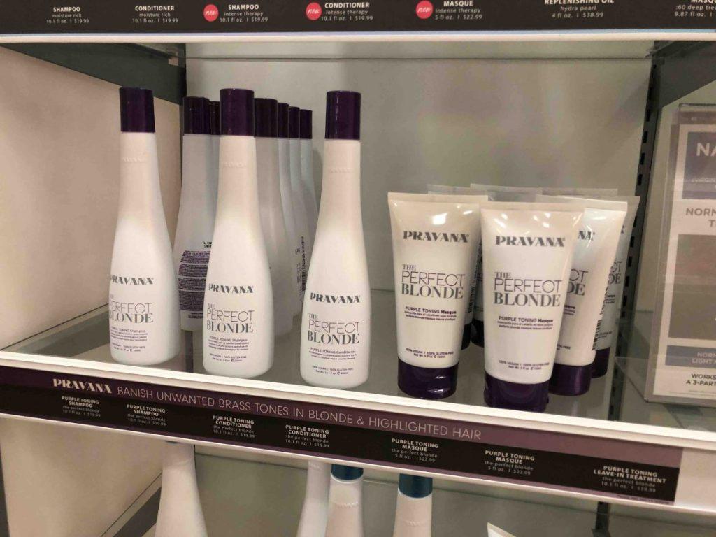 Pravana Hair Products on shelf