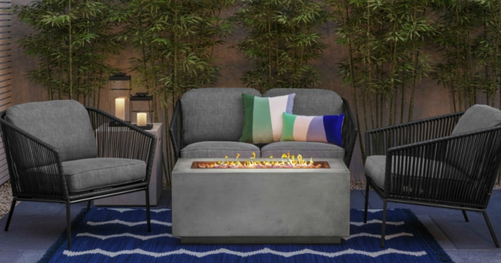 outdoor patio with Project 62 Standish Patio Club Chair