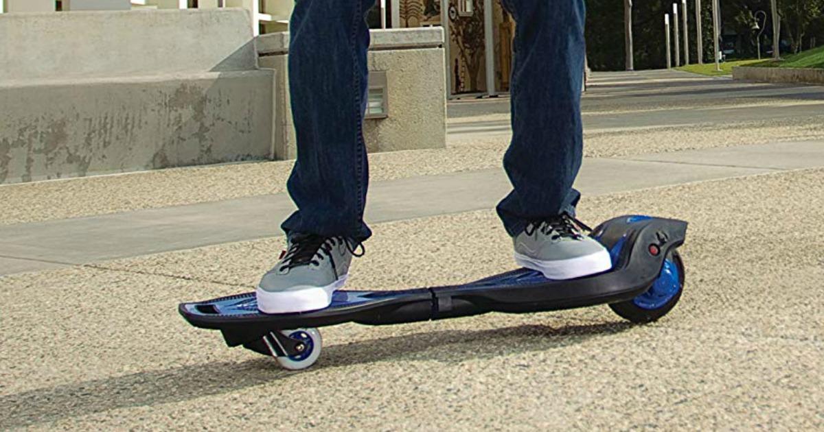 boy riding ripstik board