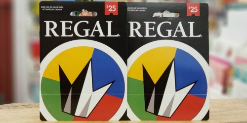 $25 Regal eGift Card Only $20