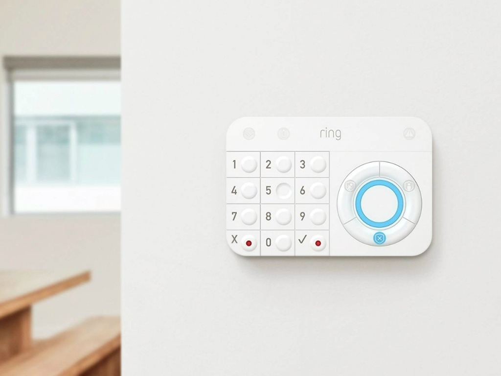 ring alarm panel on wall