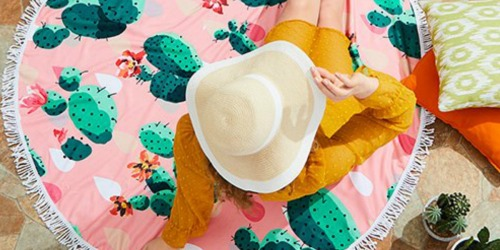 Round Beach Towels Only $9.99 at Zulily