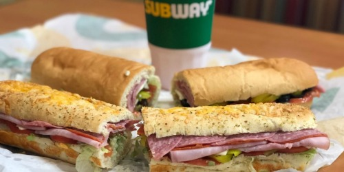 Buy 1 Subway Footlong Sandwich, Get 1 FREE w/ App or Online Order