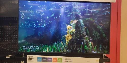 Samsung 55″ Smart UHD TV Only $299.98 at Target (Regularly $600)