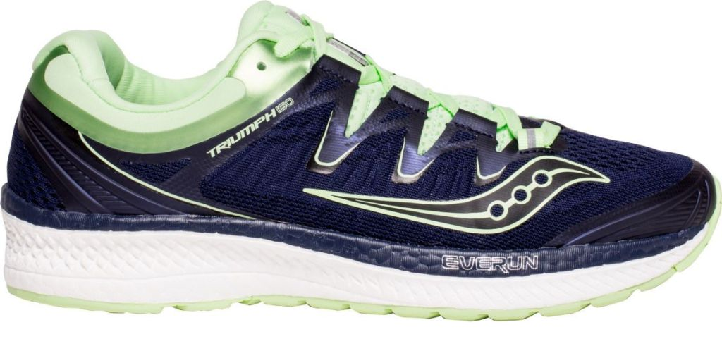 Saucony Women's Triumph ISO 4 Running Shoes in navy and mint