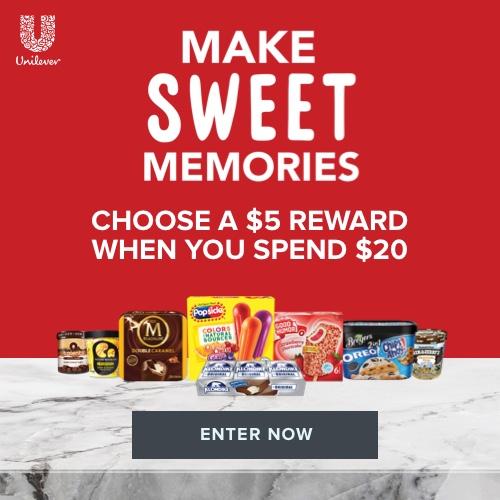 Make Sweet Memories $5 Digital Reward Unilever Banner