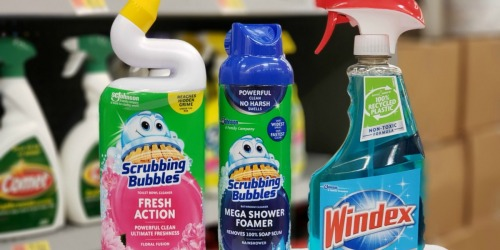 $2.75 Worth of New Scrubbing Bubbles & Windex Coupons