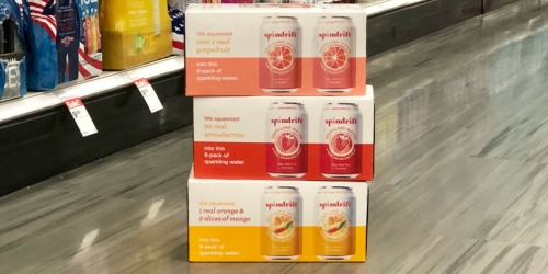 65% Off Spindrift Sparkling Water 8-Packs After Target Gift Card & Cash Back