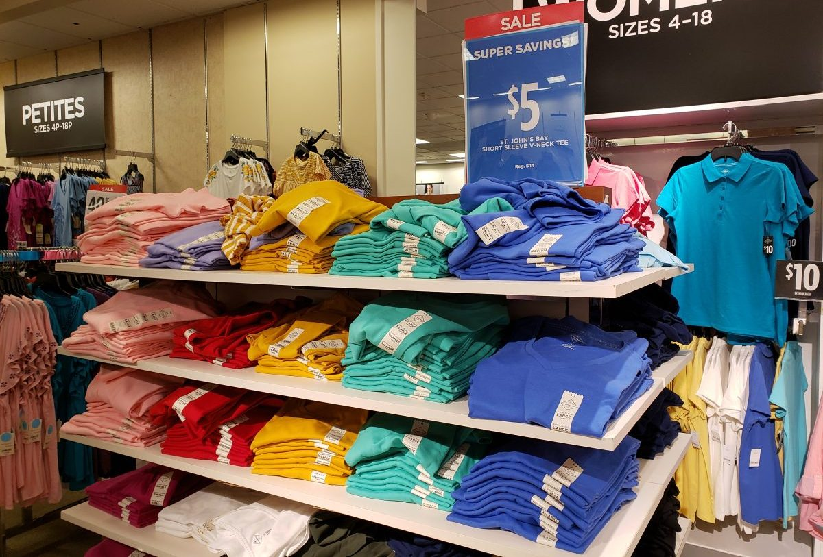 855c09dfb555 JCPenney: FIVE Women's Tees Only $15 at JCPenney (Just $3 Each ...