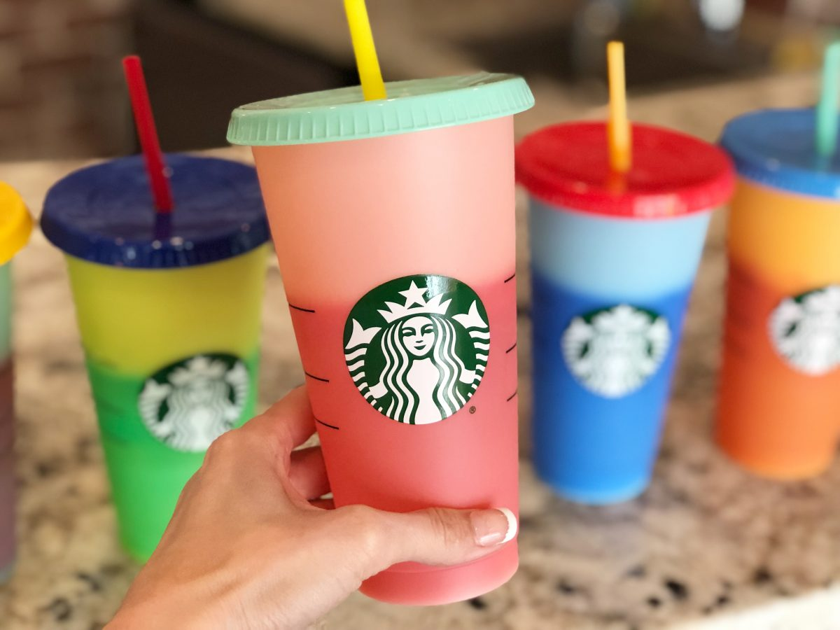 Starbucks Color-Changing Reusable Cups Pink