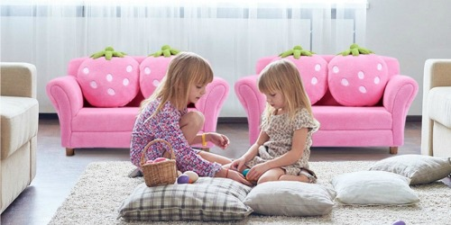 Toddler Sofa w/ Strawberry Pillows Only $84.99 Shipped (Regularly $200)