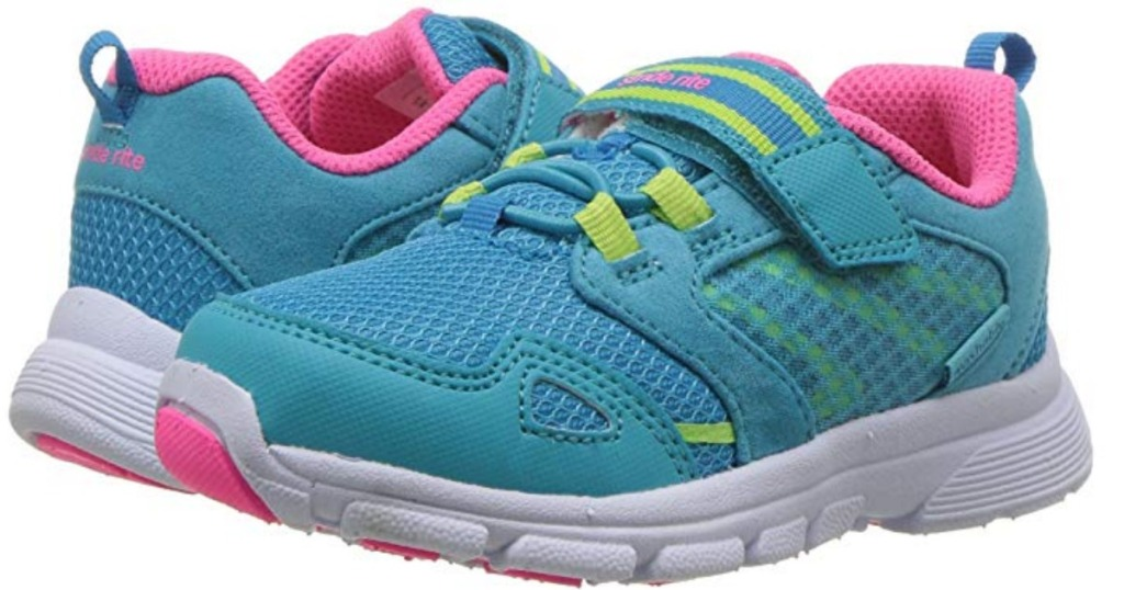 pair of Stride Rite Made 2 Play Taylor for girls in turquoise