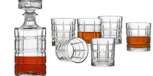 Home Depot: Crystal Decanter & Cocktail Glass 7-Piece Set Only $14.99 (Regularly $40)