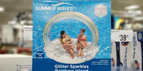 Oversized Rainbow Glitter Float Only $24.98 at Sam's Club