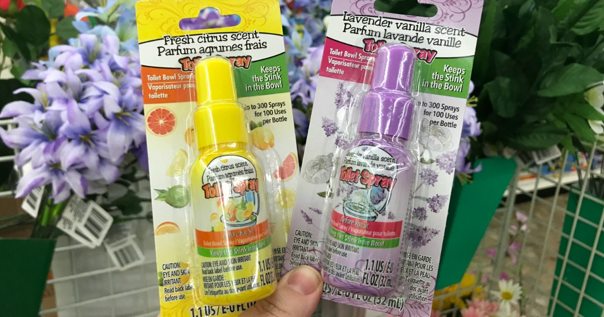 Toilet Bowl Spray Only $1 at Dollar Tree (Keep the Stink in the Bowl)