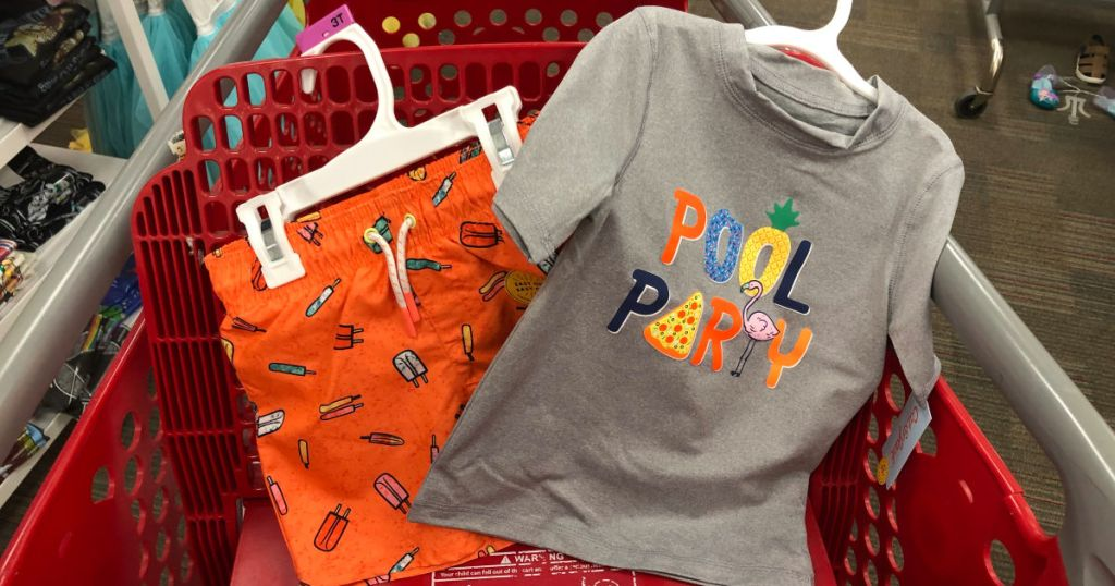 boys pool party themed swimsuits at target in cart