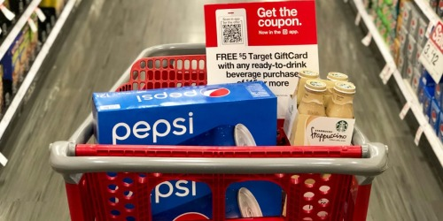 FREE $5 Target Gift Card w/ $15 Beverage Purchase  (Includes Coca-Cola, Pepsi, & More)