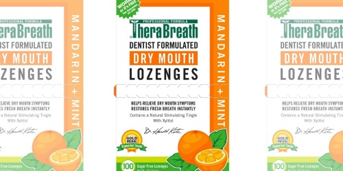 100 Count TheraBreath Dry Mouth Lozenges Deal at Target