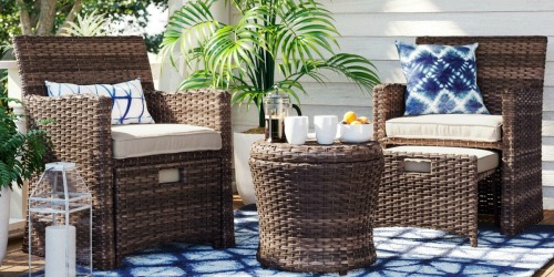 $150 Off Threshold 5-Piece Wicker Patio Set + Free Shipping on Target.com