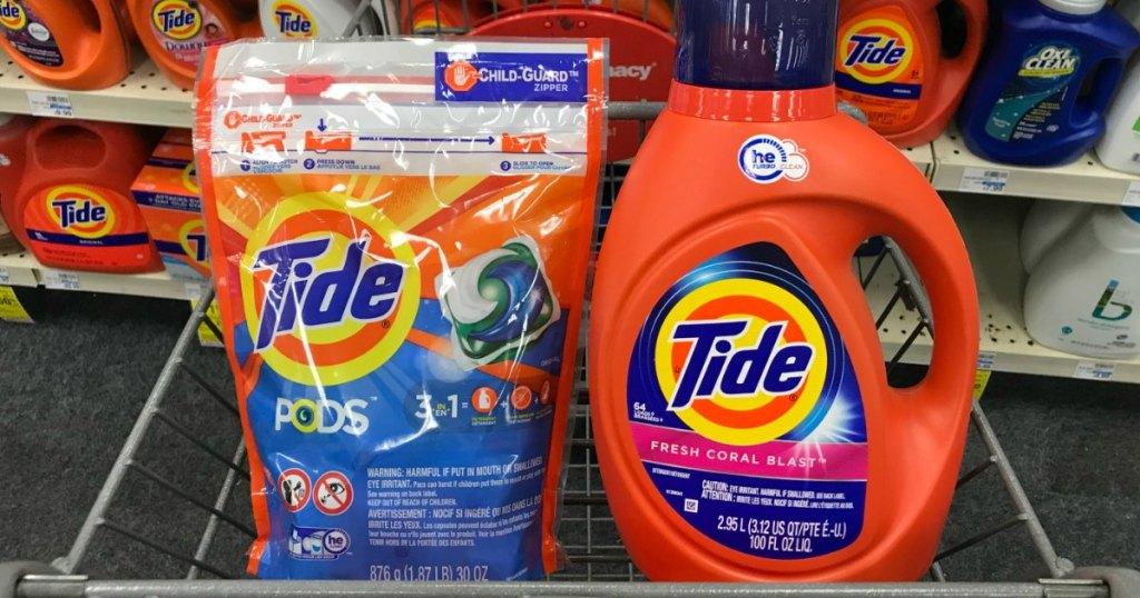 two laundry products in basket