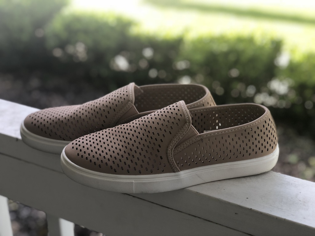 Time And Tru Perforated Twin Gore Slip-On