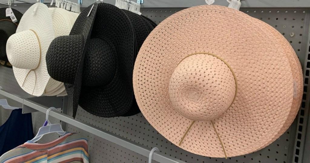 Floppy summer hats at Walmart