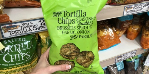 Trader Joe's May 2019 Finds: Brussels Sprouts Tortilla Chips, Peony Tulips & More