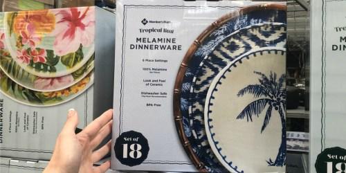 Member's Mark 18-Piece Melamine Dinnerware Set Only $25.98 at Sam's Club