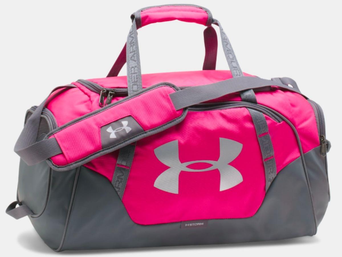 pink under armour duffel bag