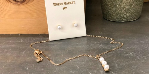 FREE Gold and Pearl Necklace and Earrings Set for Select World Market Rewards Members