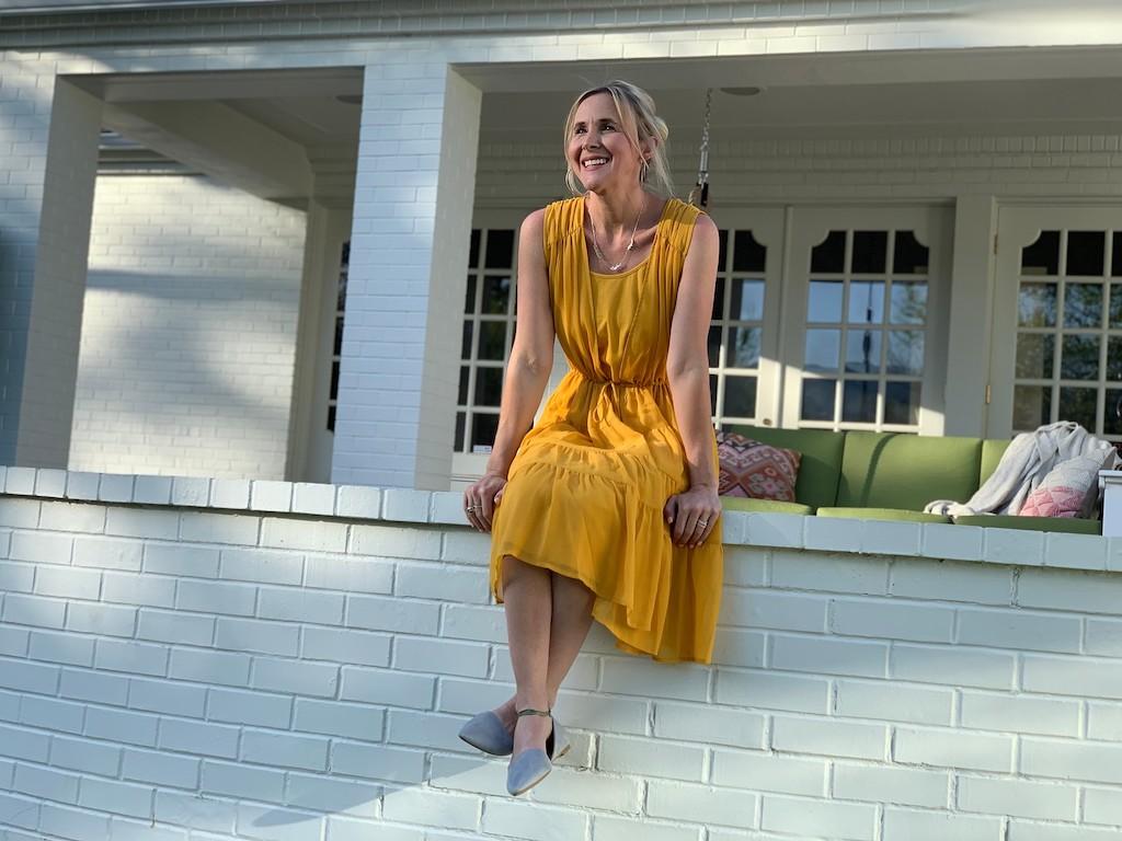 Rachel Hollis Sheer Cardigan Dress
