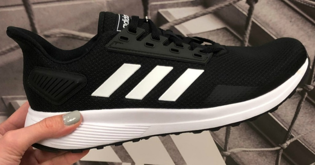 black and white adidas Duramo 9 Shoes