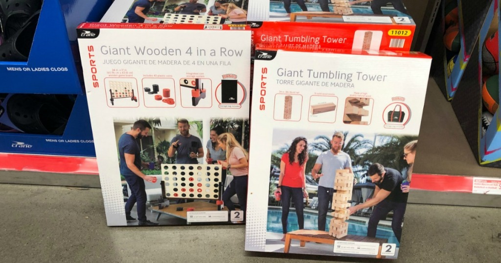 GIANT wooden games at Aldi