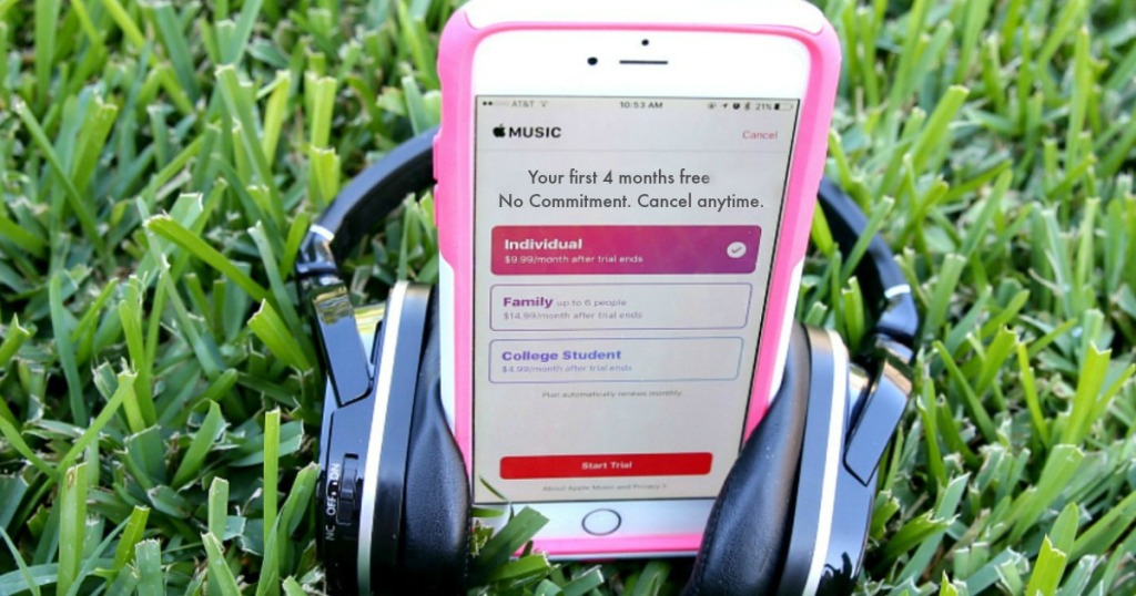 apple music four months