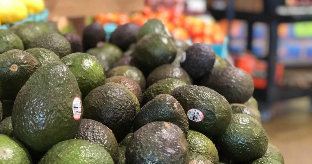 avocados on shelf