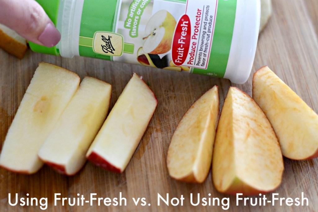 apples using Ball Fruit-Fresh vs. not using