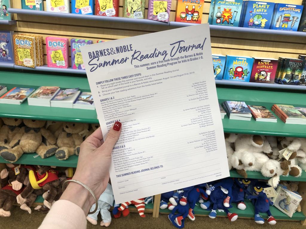 Holding Barnes & Noble Summer Reading Journal