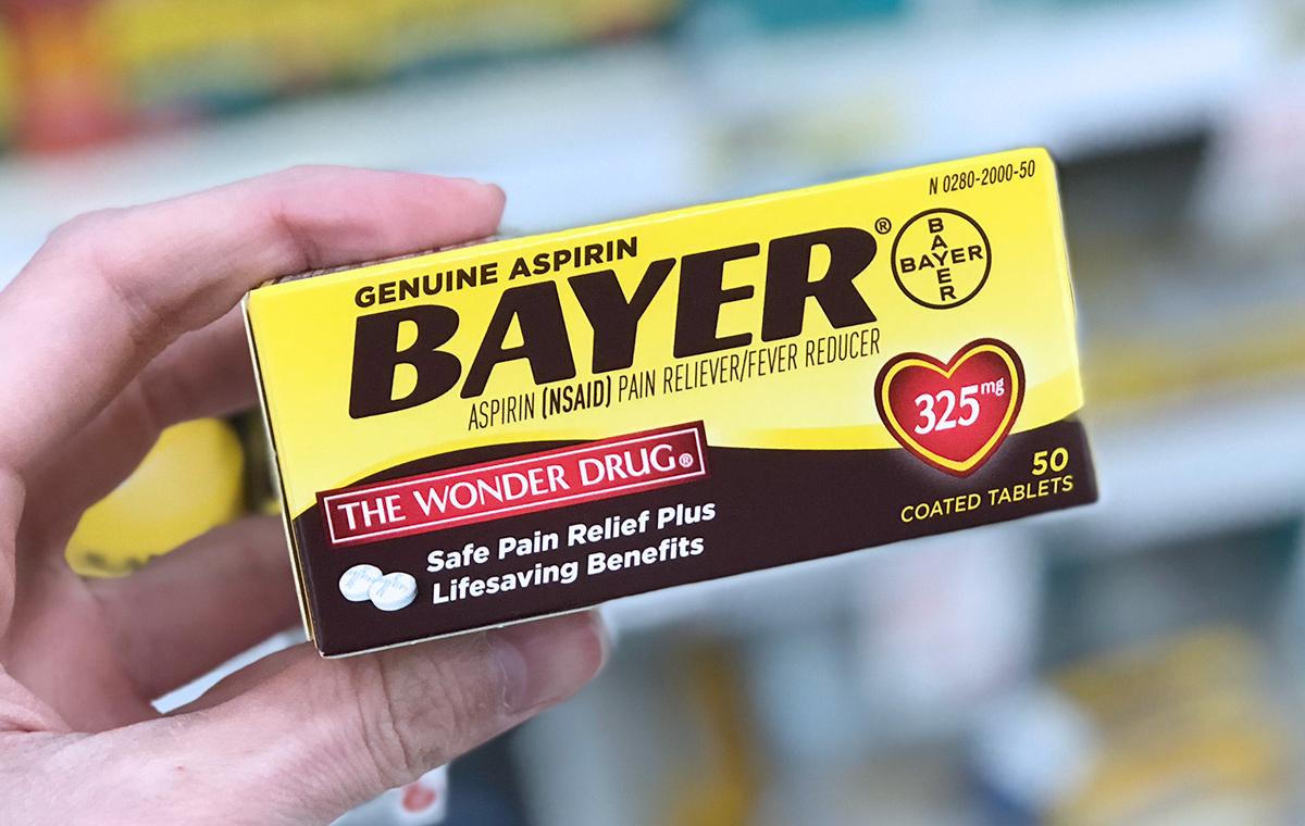 Bayer aspirin in the box