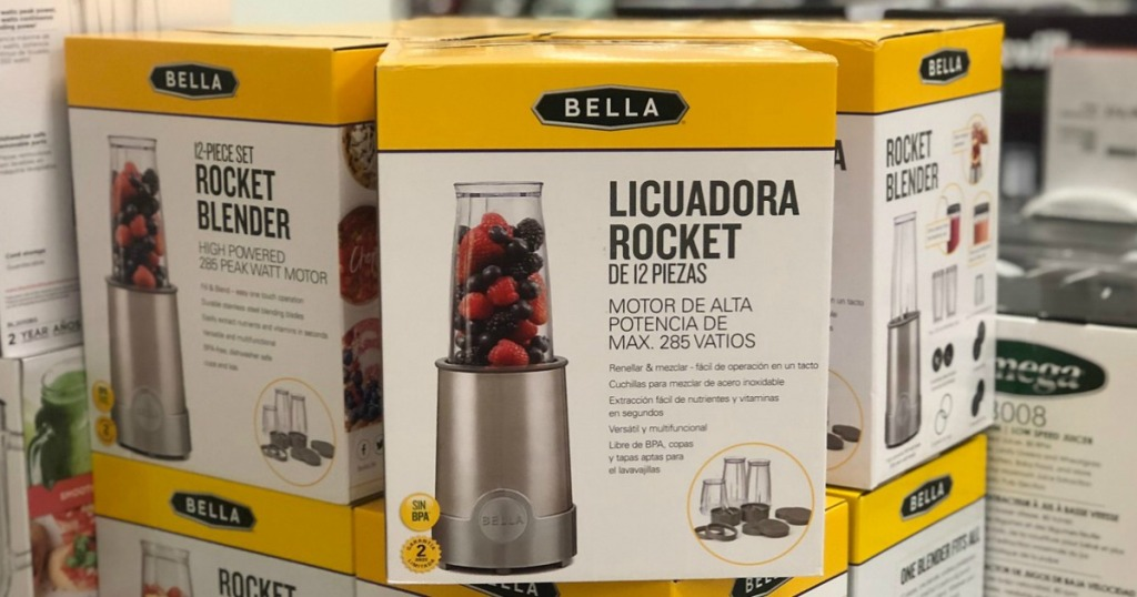 bella rocket blender on display in store