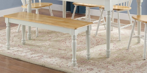 Better Homes & Gardens Farmhouse Dining Bench Only $39 Shipped (Regularly $69)