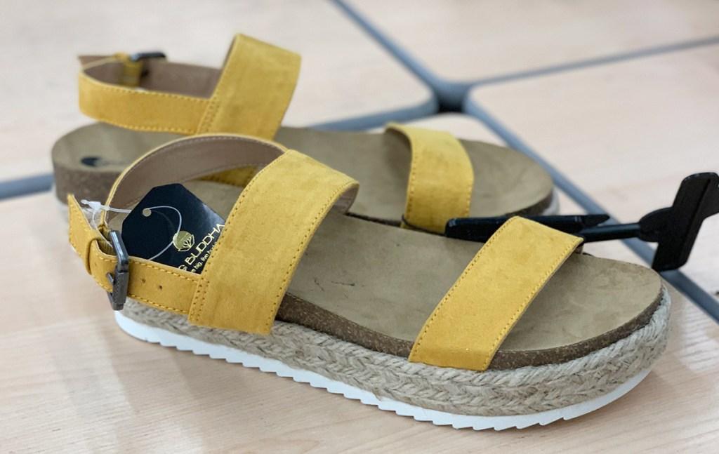 walmart shoes — yellow platform espadrille sandals