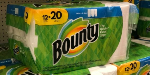 Bounty Mega Rolls 12-Pack Paper Towels Only $12.98 at Office Depot/OfficeMax