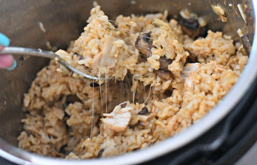 cheesy risotto in the instant pot