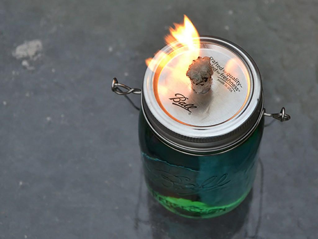 citronella mason jar candle diy