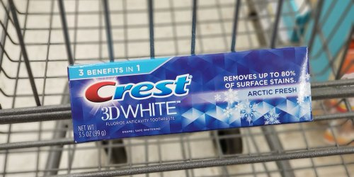 Walgreens: SIX Crest 3D White Whitening Toothpastes Only $2.77 (Just 46¢ Each)