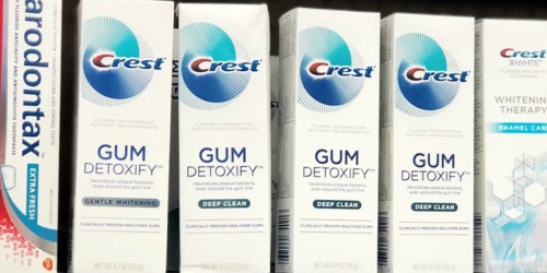 Crest Gum Detoxify & Sensitivity Toothpaste 3-Pack as Low as $9.99 on Amazon