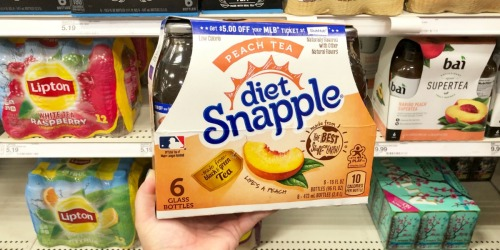 Diet Snapple 6-Packs Only $1.75 Each After Target Gift Card (Regularly $5 Each)