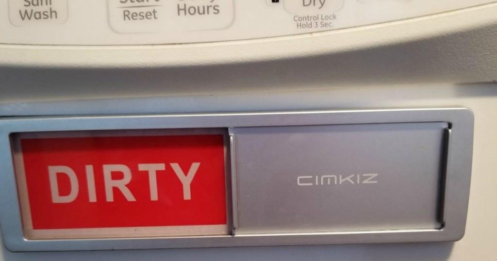 dirty dishwasher sign