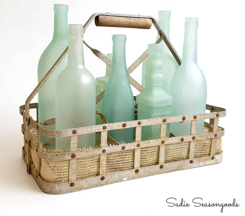 diy seaglass painted bottles from sadie seasongoods